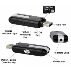 8GB Usb Flash Bellek Kamera
