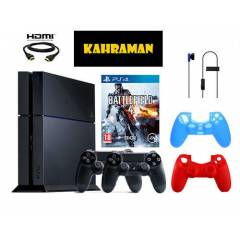 Sony Ps4 500 GB + Battlefield 4 + 2 Adet Kol