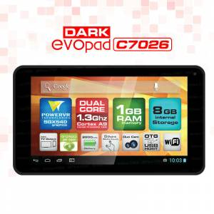 Dark EvoPad C7026K 7'' �ift �ek Klavye Tablet PC