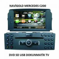MERCEDES C200  MULTİMEDİA DVD TV BT MULTİMEDİA