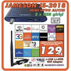 JAMESON JS-2018 FULL HD MİNİ UYDU+WİFİ ADAPTÖR