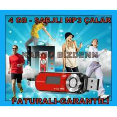 4 GB MP3 ÇALAR PLAYER ŞARJLI 4GB MP3 ŞARZLI PW01