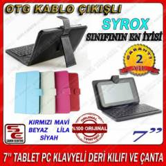 7'' TABLET PC KLAVYELİ DERİ KILIFI VE ÇANTA
