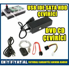 USB IDE SATA HDD DVD CD ÇEVİRİCİ ADAPTÖR