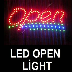 OPEN LED L�GHT COLOR LED I�IKLI HAREKETL� TABELA