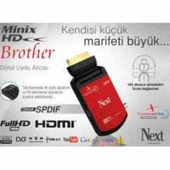 Next Minix HD Brother Uydu Alıcısı Scart + HDMI