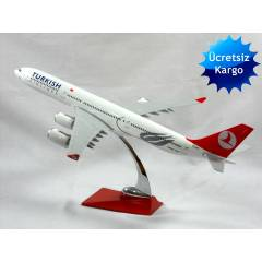 MODEL METAL UÇAK AIRBUSA340 TURKISH AIRLİNES45CM