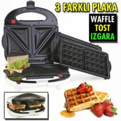 Essenso Combo Snack Tost ve Wafflle Makinesi