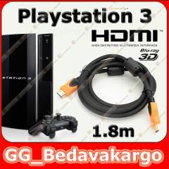 1.8m Sony PS3 Playstation 3 Hdmi Kablo 3D v1.4