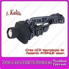 ZOOM LU PİLLİ KAFA FENERİ TECHNOMAX 661