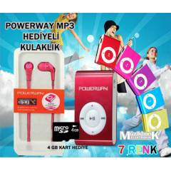 Mp3 Set - Kulaklık + 4GB Kart + Mp3 - Komple Set