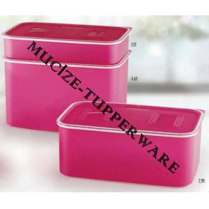 Tupperware Pembe Su Set  3 Boy