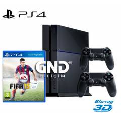 Sony PS4 500 GB +2.Kol + Fifa 2015 +PS4 Kulaklık