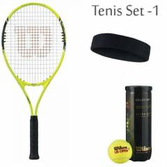 Wilson Energy XL Tenis Raket Set + Top + Band
