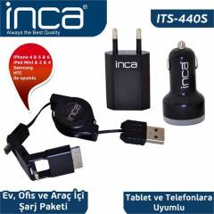 Inca ITS-440S iPad 2/New iPad/iPad 4/iPad Siyah