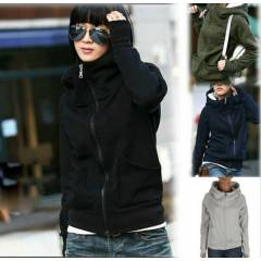 Japon Style Eldivenli Polar Sweatshirt Sweat