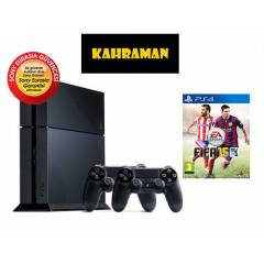 SONY PS4 500 GB + 2.KOL + FIFA 15 SONY GARANTİLİ