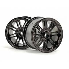 HPI 3138 8 SPOKE WHEEL SATIN CHROME/2PC