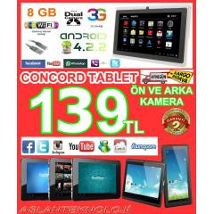 CONCORD TABLET PC ANDROİD 4.2.2 İŞLEMCİ