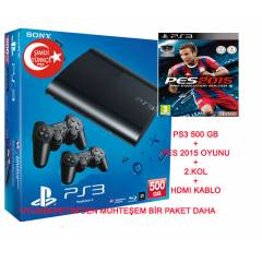 Sony Playstation 3 500 gb + PES 2015 OYUN+ 2.KOL