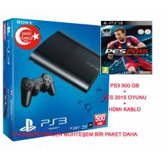 Sony Playstation 3 500 gb + PES 2015 OYUN + HDMI