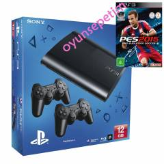 Sony Playstation 3 12  gb Konsol+Pes 2015+2.Kol