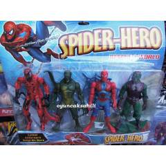 SPİDERMAN GREEN GOBLİN DÖRTLÜ YEŞİL CİN SET