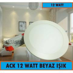 ACK SIVA ALTI 12 WATT SLİM LED PANEL BEYAZ IŞIK