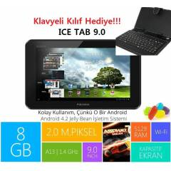 Piranha ICE Tab 9' 8GB Tablet PC+Klavye Hediyeli