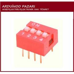 4P 4 Position DIP Switch 2.54mm Pitch 2 Row 8Pin