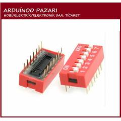 7P 7 Position DIP Switch 2.54mm Pitch 2Row 14Pin