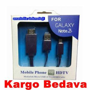 Samsung Galaxy Note 4 Micro USB 3.0 to Hdmi Hdtv