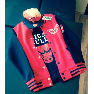 NEW CH�CAGO BULLS COLLEGE JACKET Kolej Mont NBA