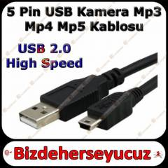 5 Pin USB Kamera Mp3 Mp4 Mp5 Kablosu