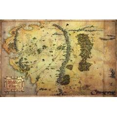 Maxi Poster - The Hobbit Journey Map
