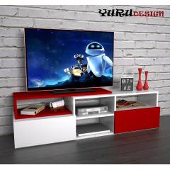 Yurudesign Layer Led Tv Ünite Sehpa Kitaplık Raf