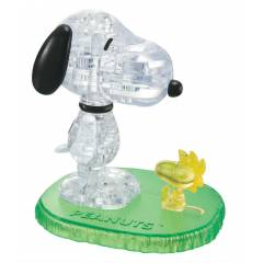 3D Crystal Puzzle Snoopy & Woodstock, 41 Parça