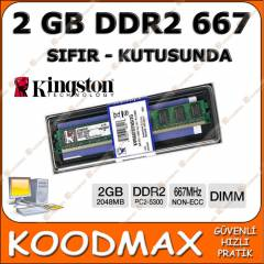 2 GB 667 MHZ DDR2 Kingston Pc Ram Sıfır Kutulu