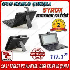 10.1'' TABLET PC KLAVYELİ DERİ KILIFI VE ÇANTA