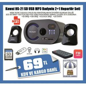 KAWA� HS 21 2+1 SES S�STEM� USB-SD CART RADYO