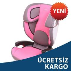 Kraft Travel Fit Oto Koltuğu Gri Pembe 15-36 kg