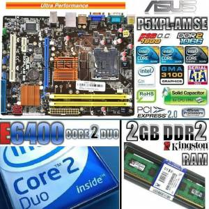 ASUS G31 ANAKART==CORE 2 DUO E6400 CPU==2GB DDR2