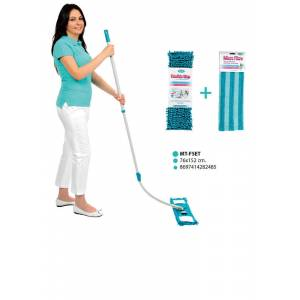 Motek Flexible Micro Fiber Mop Set +Yedek Paspas