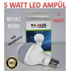 1 ADET 5 WATT KLAUS LED AMPÜL ULTRA LED IŞIK