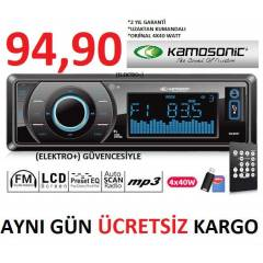 KAMOSONİC MX 37 OTO TEYP USB + SD + FM
