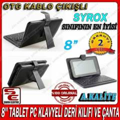 8'' TABLET PC KLAVYELİ DERİ KILIFI VE ÇANTA