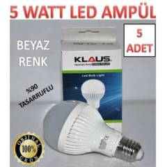 5 ADET 5 WATT KLAUS LED AMPÜL ULTRA LED IŞIK