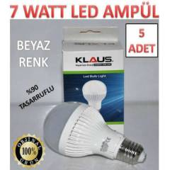 5 ADET 7 WATT KLAUS LED AMPÜL ULTRA LED IŞIK