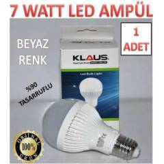 1 ADET 7 WATT KLAUS LED AMPÜL ULTRA LED IŞIK