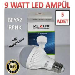5 ADET 9 WATT KLAUS LED AMPÜL ULTRA LED IŞIK